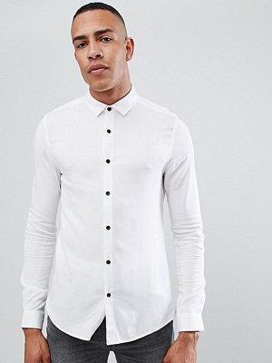 ASOS DESIGN tall skinny viscose shirt