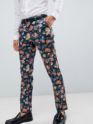 ASOS DESIGN skinny smart trouser with floral print