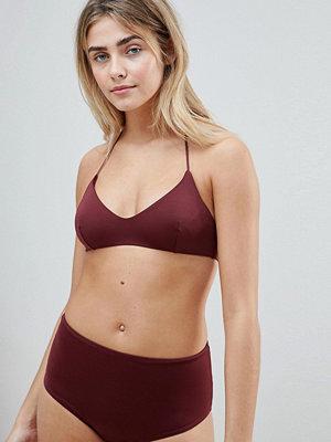 Weekday tie strappy bikini top in wine - Wine