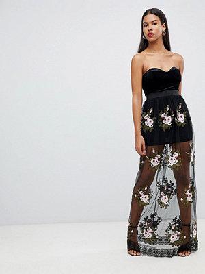 Ra-Re London lace rose maxi dress