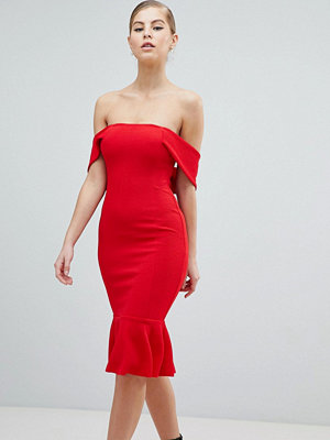Ax Paris V Neck Pencil Dress With Pephem