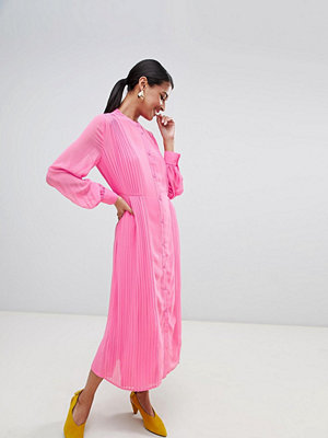 Warehouse pleated shirt dress