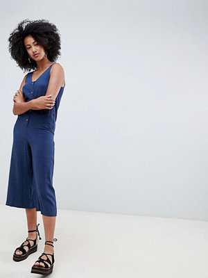 New Look Byxdress med knäppning Indigo