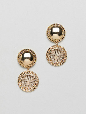 ASOS örhängen DESIGN earrings with vintage style cut out drop