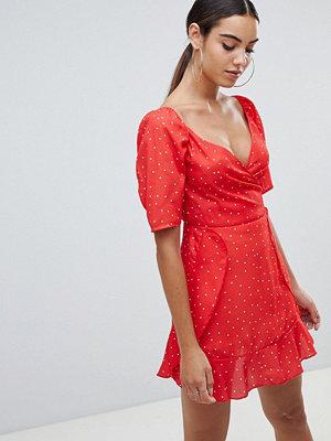 Missguided Chiffon Polka Dot Mini Dress