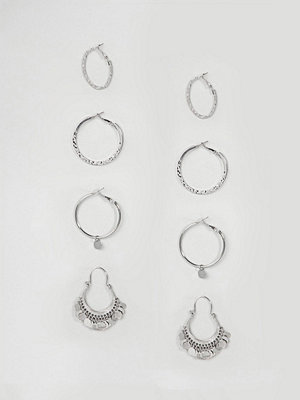Stradivarius örhängen silver pack of hoops