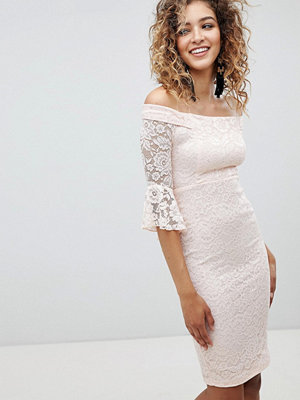 Ax Paris Flute Sleeve Lace Bodycon Dress