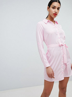 Ax Paris Striped Shirt Dress