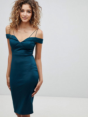 Ax Paris Strappy Detail Pencil Dress - Teal