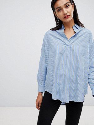 French Connection Randig skjorta i oversize Blå i flera nyanser