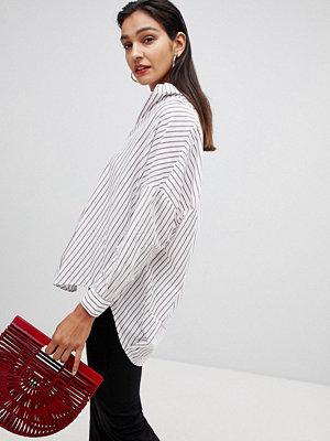 French Connection Randig skjorta i oversize Vintervit