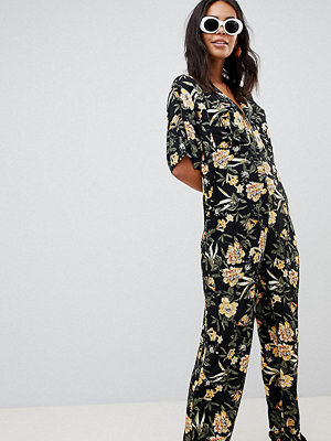 Asos Tall Boilersuit med blommigt mönster