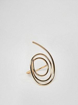 ASOS DESIGN ring in swirl design