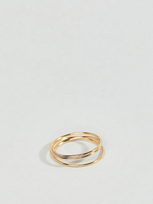 ASOS DESIGN pinky ring in wire wrap design