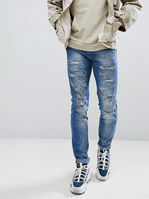 Jeans - Sixth June Extreme Ripped Skinny Jeans