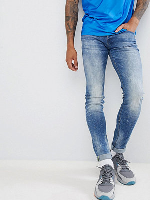 Jeans - Sixth June Skinny Washed Blue Jeans