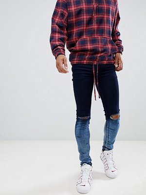 Jeans - Sixth June Dip Dye Ripped Blue Jeans
