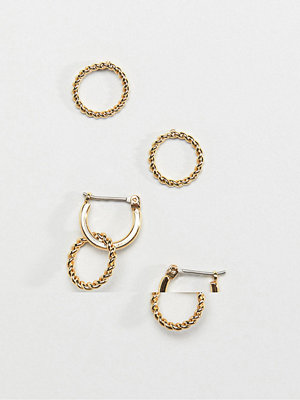 Pieces örhängen circle earrings pack