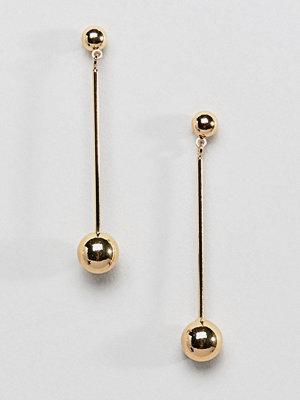 Pieces örhängen Minimal Ball Drop Earrings