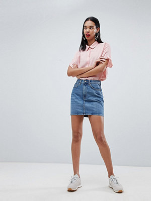 Weekday Wend Denim Mini Skirt - Marble blue