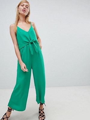 New Look Jumpsuit med vida ben och kut fram Emeraldgrön