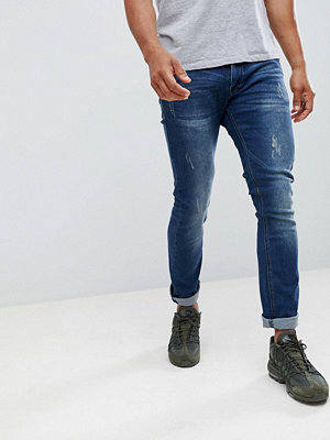 Jeans - Soul Star Super Soft Stretch Bleached Patch Jeans