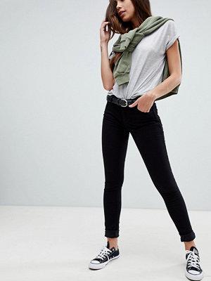 Levis Line 8 Levi's Line 8 Skinny jeans med medelhög midja Svart får