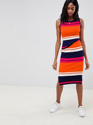 Oasis Stickad kjol med färgblock