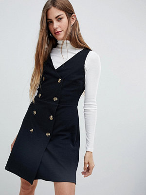 New Look Double Breasted Pinny Dress