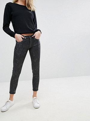 Polo Ralph Lauren Fläckiga skinny jeans Tvättad svart