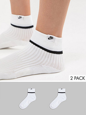 Strumpor - Nike Essential 2-pack vita ankelstrumpor