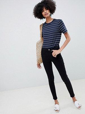 Selected Femme Helsvarta skinny-jeans