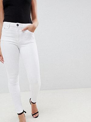 ASOS Petite Ridley Skinny jeans med hög midja i vitt