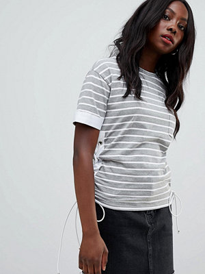 Glamorous Randig t-shirt Grey white stripe