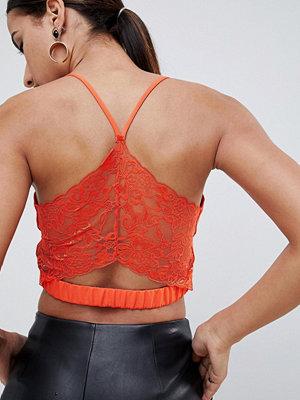 ASOS DESIGN Bralette med djupt urringning och spets på ryggen