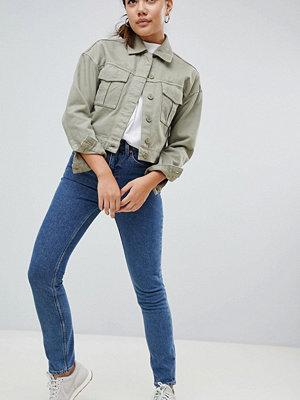 Weekday Way Skinny jeans me hög midja