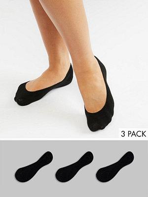 Monki 3-pack svarta ballerinastrumpor