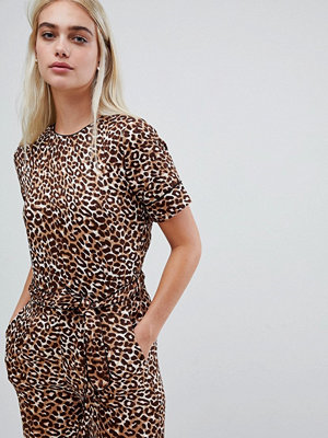 Pieces Leopardmönstrad jumpsuit Svart