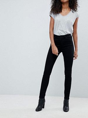 Weekday Thursday svarta skinny jeans med hög midja i ekologisk bomull