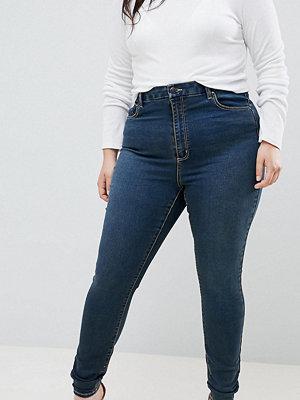ASOS Curve Sculpt me Blå jeans i premiummodell London-blåtvätt