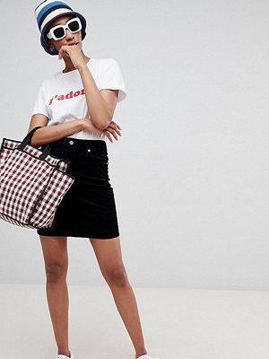 Asos Tall Svart kjol i manchester Tvättad svart
