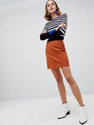 Warehouse Brunfärgad pelmet-kjol