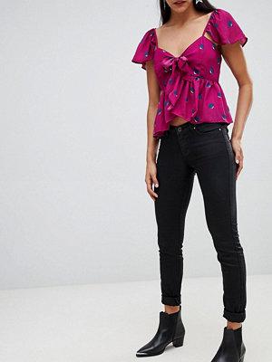 Vero Moda Smala jeans med beläggning