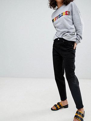 Uncivilised Core Jeans i med hög midja Solid black