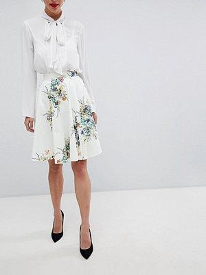 Closet London Closet Blommig kjol Vit