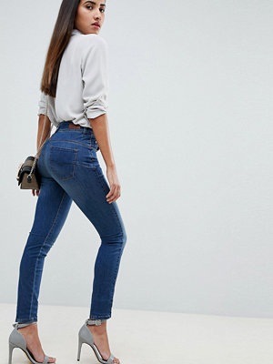 Salsa Secret waist cculpting jeans i smal passform 8506 medium dark was
