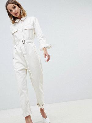 ASOS White Jumpsuit i denim
