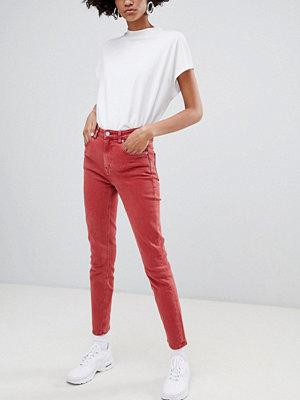 Weekday Way Jeans med hög midja och smal passform i ekologisk bomull