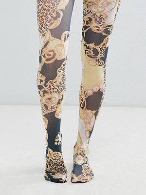 ASOS DESIGN Tights med kedje och leopardmönster