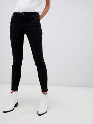 Stradivarius Svarta skinny jeans med låg midja